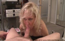 Blonde mature gets anal creampie