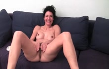 Hairy mature Emanuelle gets off