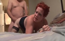 Horny woman fucked deep and hard on the bed