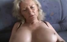 Woman in leopard printed lingerie masturbates