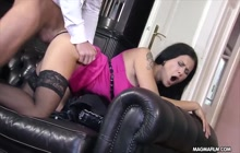 Busty German beauty gets fucked